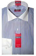 Eterna Shirt - 4320/19 X117 - Blue Stripe